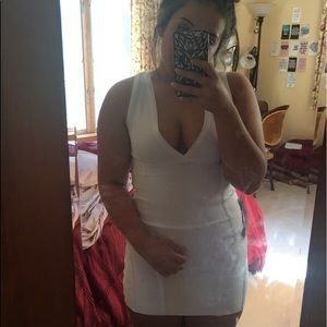 White Bodycon Bandage Dress